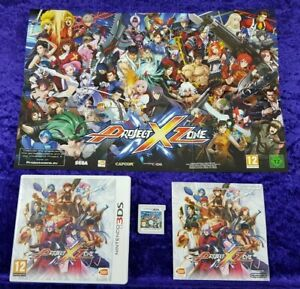 3ds PROJECT X ZONE + Poster! PAL UK Version