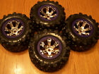 Traxxas 1/10 Summit Canyon AT Tires &17mm Purple Chrome Geode 3.8 Wheels 56076-4 photo