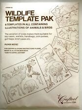 Vintage Tandy Leather Craftool USA Animals & Birds Wildlife Template Stencil Pak