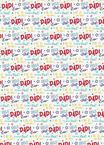 2 Sheets Father's Day Best Dad Ever Design Wrapping Paper Gift Wrap (PA)