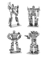 Set of 4 Metal Earth Kit Transformers Optimus Prime Soundwave Bumblebee Megatron
