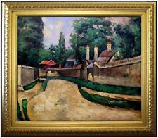Framed, Paul Cezanne Houses on Roadside Repro, Hand Painted Oil Painting 20x24in