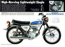 1972 HONDA CB100K2 SUPERSPORTS 1 Page Motorcycle Brochure NCS