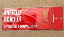"Liverpool FC Metal 3D Sign 16""x7"" Anfield Road L4 New Red"