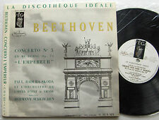"BEETHOVEN Concerto No.5 BADURA SKODA / SCHERCHEN French 10"" LP VEGA - NMint/EX"