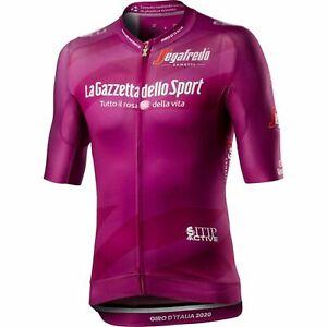 Men Short Sleeve Pink Cycling Jersey For 2020 IT Racing Winner