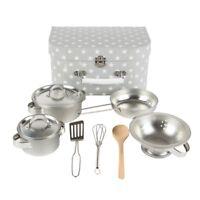 Sass & Belle Kids Kitchen Cook Box Set Role Play Saucepan Pots Pans Toy