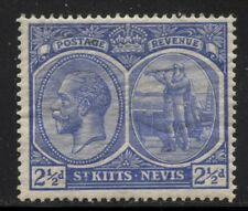 St Kitts-Nevis 1927 2½d George V Sc# 43a NH