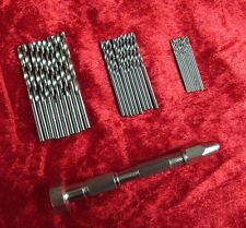 New Swivel Head Pin Vice & 30Pc Micro Drills Craft Model & Jewelery Making Tools