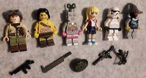 Brickmania WW2 US Tank crewman,SW Clone Trooper &  4 other Lego mini figures