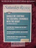Saturday Review October 27 1962 WILLIAM BENTON PAUL HUME ELMO ROPER