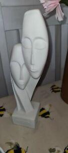 """9"""" Tall Greek ALABASTER Devotion Sculpture Ornament"""