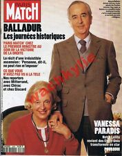 Paris Match n°2289 du 08/04/1993 Balladur Législatives Vanessa Paradis Nielsen