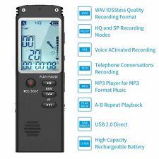 16GB Digital Diktiergerät Aufnahmegerät MP3 Sound Voice Recorder für Meeting DE