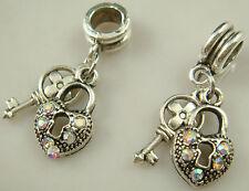 European Dual color Charms pendant Bead For s925 Bracelet Chain us free q5dj