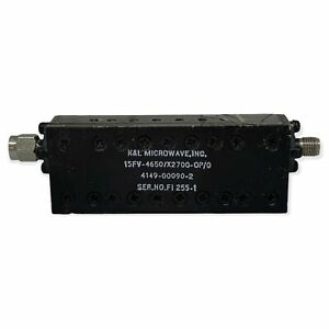 Band Pass Filter SMA 4650Mhz BW 2700Mhz (3.175-6.1Ghz) 15FV-4650/X2700-0P/0