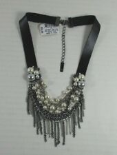 Faux Leather Cluster Pearls New Fo102 Inc International Concepts $34 Nwt Choker