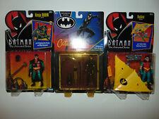 3) 1992 Batman Returns Figure SEALED - TURBO GLIDER ROBIN/Ninja/Catwoman LOT **