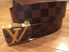 "Brand New Men's Belt  Brown Belt with gold buckle 50"""