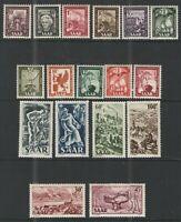 Germany - Saar 1949-51 Sc# 204-220 MNH F/VF - Excellent MNH set 1949-51