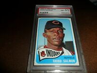 1965 OPC O-pee-chee Topps #105 Chico Salmon Cleveland Indian NM MINT PSA 8 POP 8