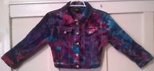 Recycled Tie Dyed OBEY Jean Jacket Small Button Front 99% Cotton 4 Pockets