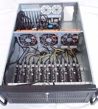 8 GPU ethereum Dash monero mining Rig Miner 19 4u servidor rx570 gtx1060 bitcoon