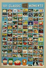 SOUTH PARK,101 CLASSIC MOMENTS , RARE AUTHENTIC 2009 POSTER