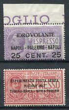 Kingdom of Italy 1917 Airmail Seaplane and Turin-ROME MNH ** Saxon 1-2