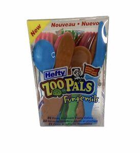 Zoo Pals Funtensils Plastic Ware Children Utensils -incomplete set
