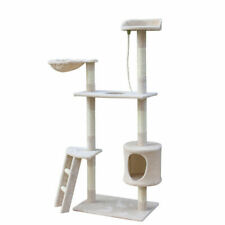 """New listing 60"""" Cat Tree Kitten Playhouse Condo Furniture Scratching Post Toys Kitty Tower"""