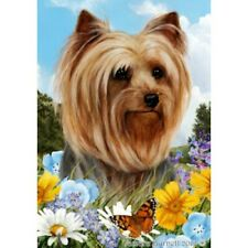 Summer Garden Flag - Yorkshire Terrier Yorkie 180101