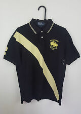 MENS VTG RETRO BLACK RALPH LAUREN SHORT SLEEVE POLO SHIRT TOP VGC UK M