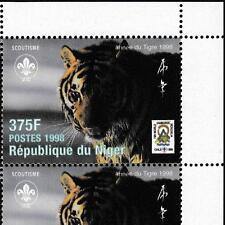 Niger 1998 Scout Pfadfinder + Wildkatzen, Mi.1414 Klbg MNH