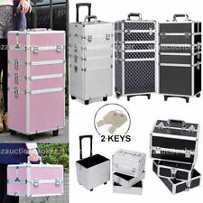 7 in 1 Portable Cosmetics Beauty Hairdressing Makeup Trolley Carry Bag Case Box