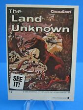 "VINTAGE 1980's TOPPS MONSTER MOVIE STICKER ( ""THE LAND UNKNOWN"" ) DINOSAURS  #19"