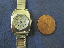 fe small face quartz watch bracelet #174 ladys sterling silver Peyote Bird santa