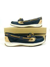 Sperry Angelfish Boat Shoes Navy Imported Leather/Rubber sole STS81756