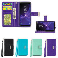 IZENGATE Wallet Flip Case PU Leather Cover Folio for Samsung Galaxy S9 Plus