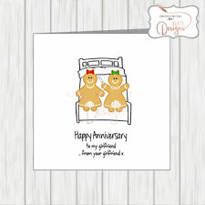 Gay LGBT Funny Rude Humour Lesbian Anniversary Card Gingerbread Women Post Oral!
