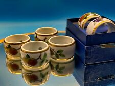 More details for vintage set of six porcelain napkin rings royal worcester boxed