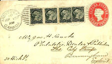 W28b 1893 CANADA SUPERB MIXED QUEENS FRANKING 3c Stationery Cover Birmingham