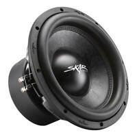 "NEW SKAR AUDIO SVR-12 D4 12"" 1600 WATT MAX POWER DUAL 4 OHM CAR SUBWOOFER"