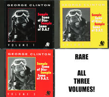 George Clinton 3-CD SAMPLE SOME OF DISC D.A.T./DAT Volume 1, 2 & 3  330 SAMPLES!