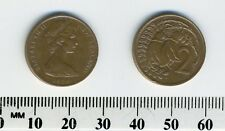New Zealand 1974 - 2 Cents Bronze Coin - Queen Elizabeth II - Kowhai leaves