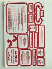 Warning labels for rotating equipment machinery Rotary Screw Air Compressors ...