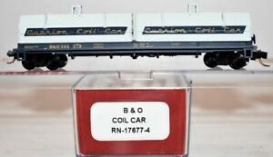 Baltimore & Ohio 378 Coil Car Red Caboose RN-17677-4  N Scale JY29.12