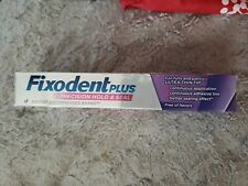 Fixodent Plus Gumcare Denture Adhesive Cream, Unflavored, 2 oz