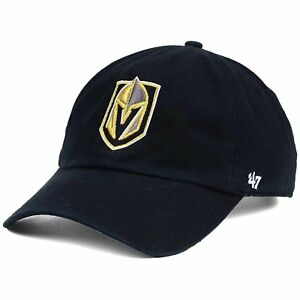 Vegas Golden Knights '47 NHL Clean Up Slouch Adjustable Black Buckle Hat Cap OS