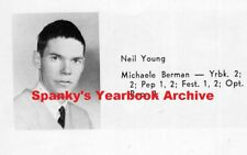 1960s High School Yearbook with NEIL YOUNG ~ Crazy Horse ~ Buffalo Springfield